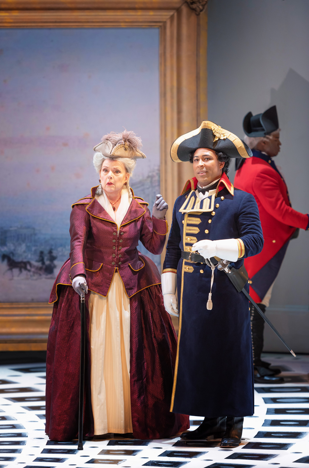 Joyce Castle as the Countess with Benjamin Taylor as Count Tomsky