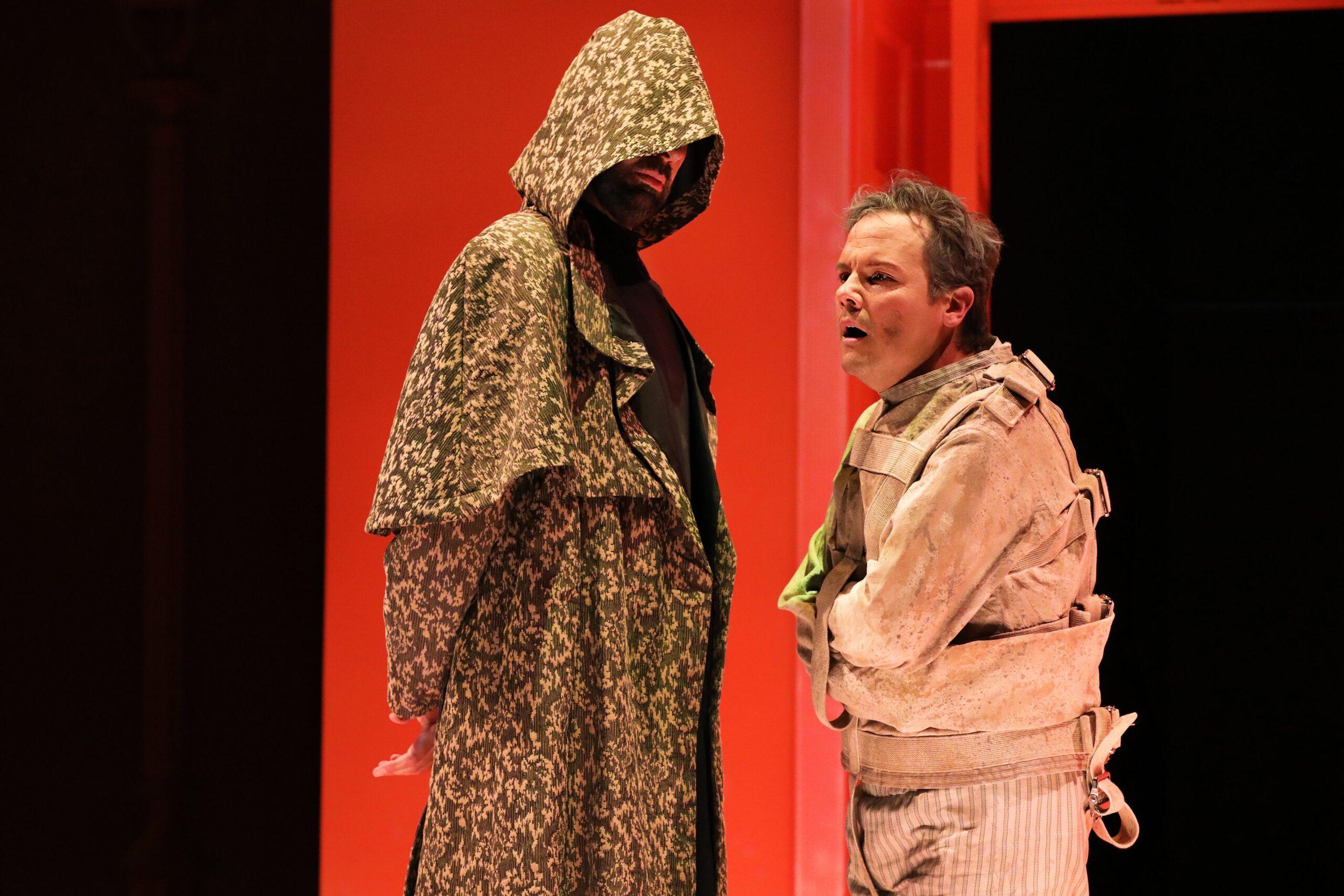 Matt Boehler (Van Helsing), David Portillo (Jonathan Harker). Photo Credit: Curtis Brown for the Santa Fe Opera, 2021